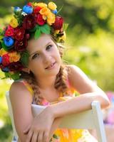Cute Girl Flowers
