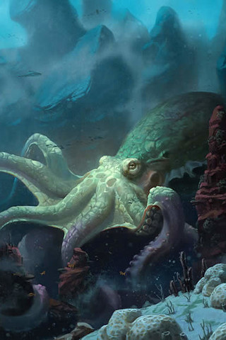 Free Animals - Octopus phone wallpaper by epictones