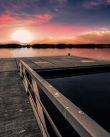 Dock Sunset wallpaper 1