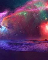 Andromeda Galaxy Astronaut Art