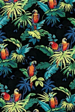 Free Tropical Pattern - Macaws & Palms phone wallpaper by epictones