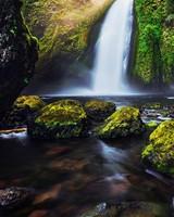 Green Moss Waterfall