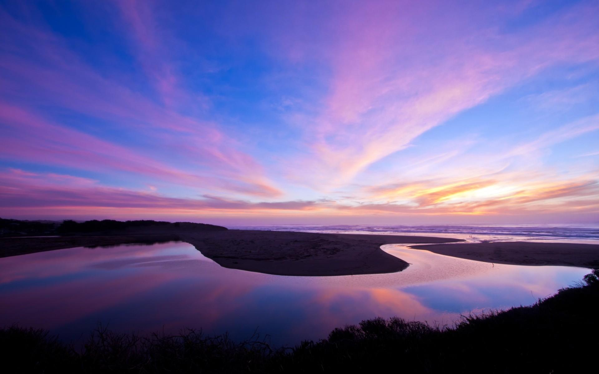 Free North Salmon Creek Beach Reflection phone wallpaper by aloggins84