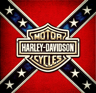 Free Harley logo in Confederate flag phone wallpaper by kodis96