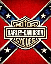 Harley logo in Confederate flag