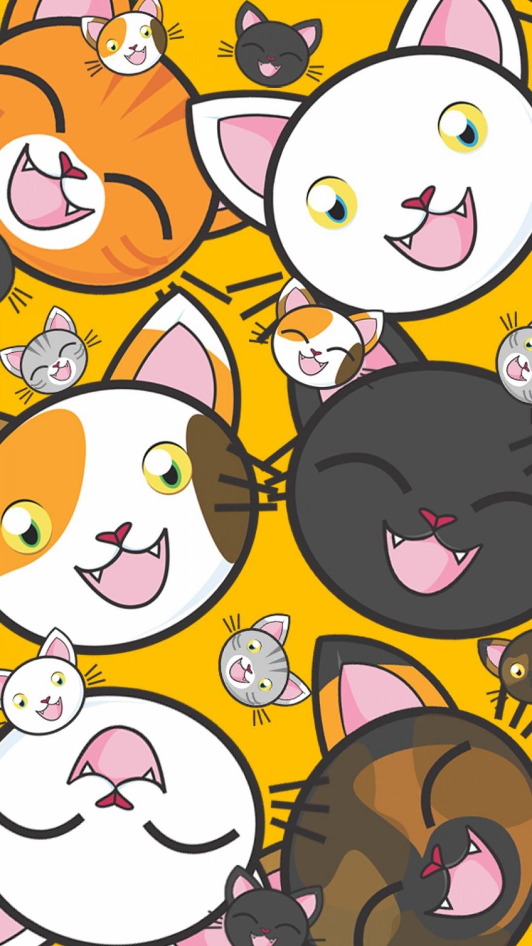 Free Kittens Pattern phone wallpaper by casey16
