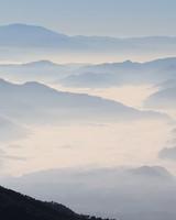 Misty Himalaya Mountains