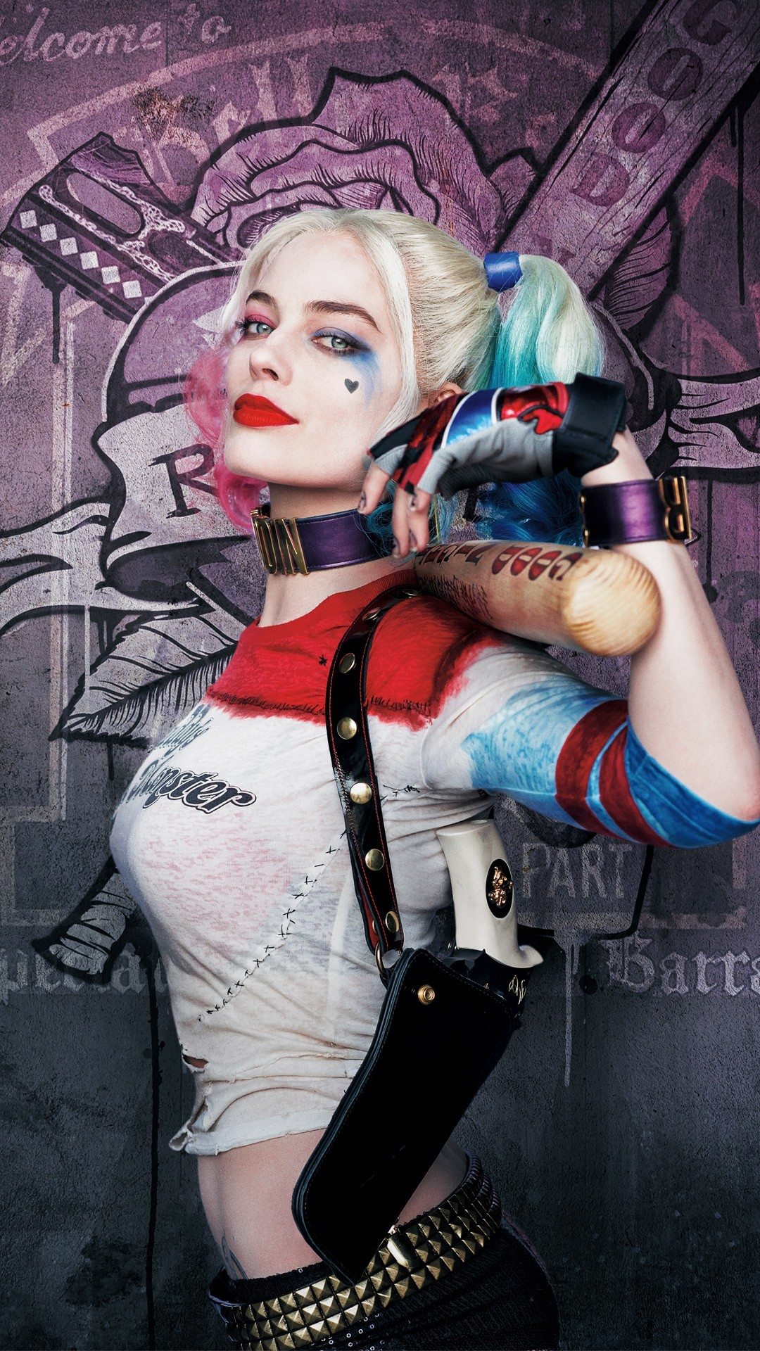Free Harley Quinn Margot Robbie Suicide Squad phone wallpaper by ckimble101