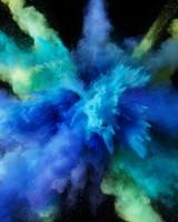 Cyan Color Burst