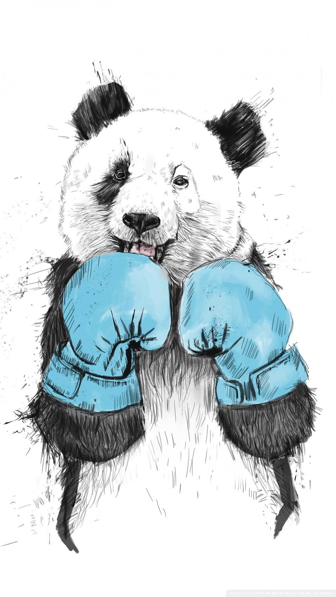 Free Minimalist Panda phone wallpaper by animostatus95