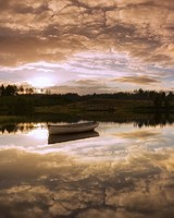Rowboat, Sky Reflection in Water