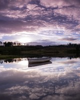 Boats, Sky Reflected In Water, Dawn