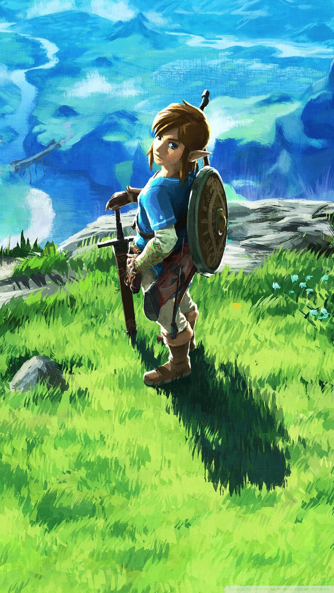 Free The Legend of Zelda Breath of the Wild phone wallpaper by chom28