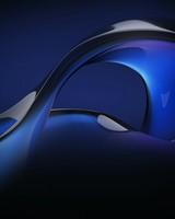 Blue Fluid Abstract