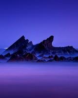 Rocks Layers Sea Mist