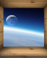Moon and Earth View from Space