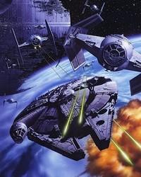 Millennium Falcon+Death Star-Tsuneo Sanda wallpaper 1