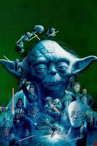 Free Yoda+STAR WARS SAGA-Tsuneo Sanda phone wallpaper by epictones