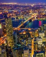 New York City, Manhattan at Night