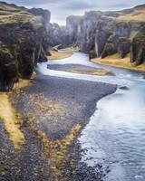 Iceland, Fjadrargljufur Canyon