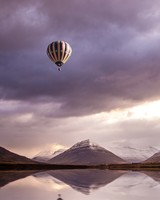 Colorful Hot Air Balloon Over Water