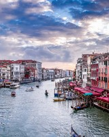 View of the Grand Canal from Rialto Bridge