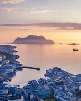 Panoramic view, Alesund town, Norway
