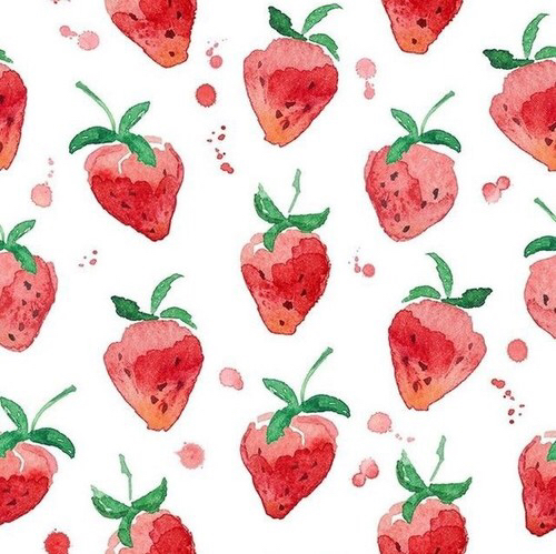 Free Strawberries  phone wallpaper by kitty_baby12