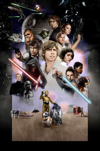 Free SWCO2017-40th Anniversary - colored phone wallpaper by epictones