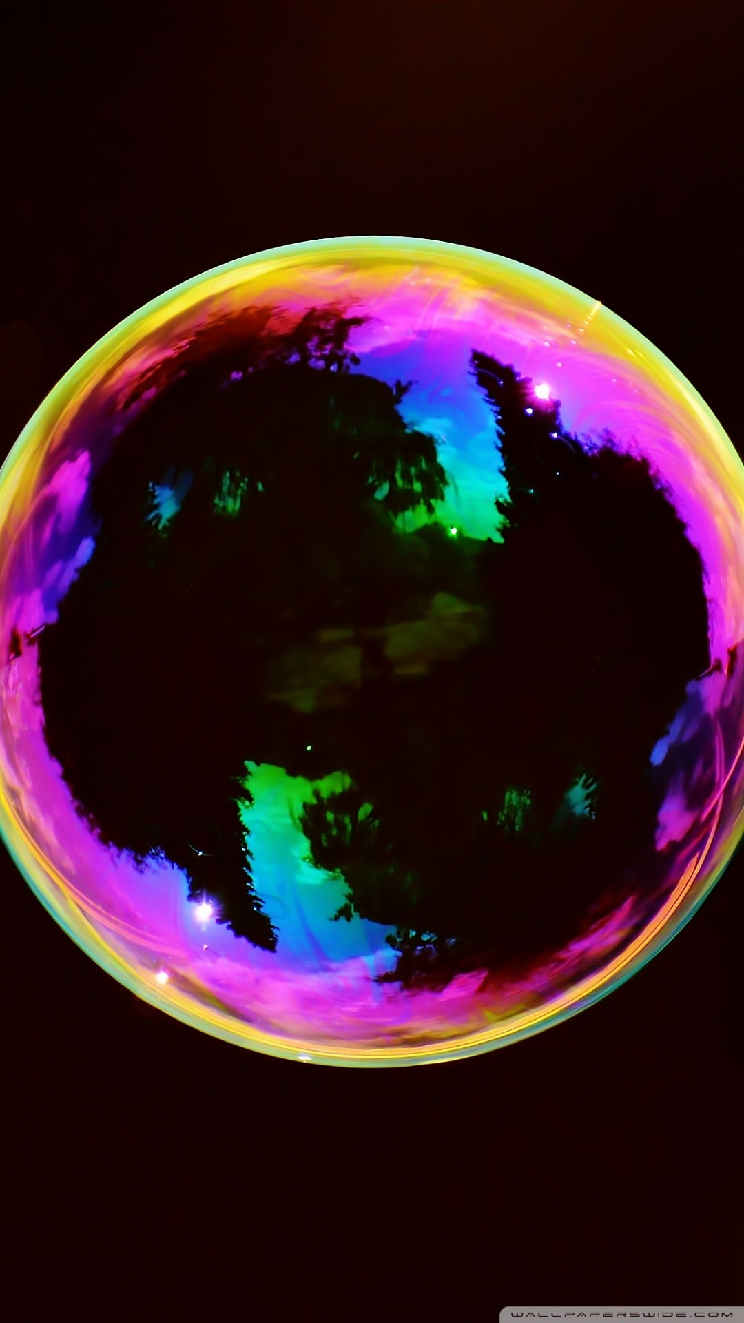 Free Iridescent Soap Bubble phone wallpaper by mrznorris
