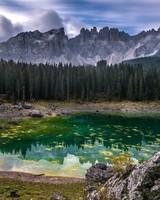 Karersee Lake, Dolomites mountain range, Italy