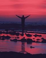 Guy Jumps at Beach