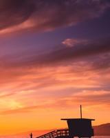 Sunset at coast