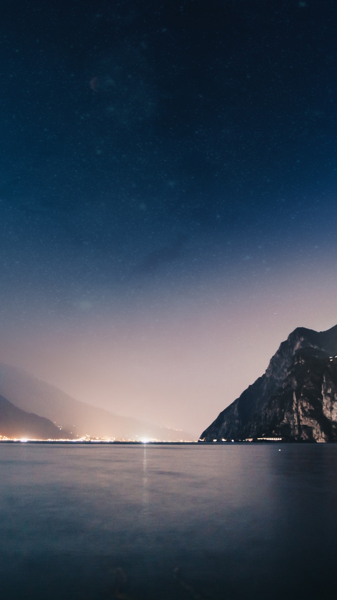 Free Mountains, Night, Sea phone wallpaper by jules3