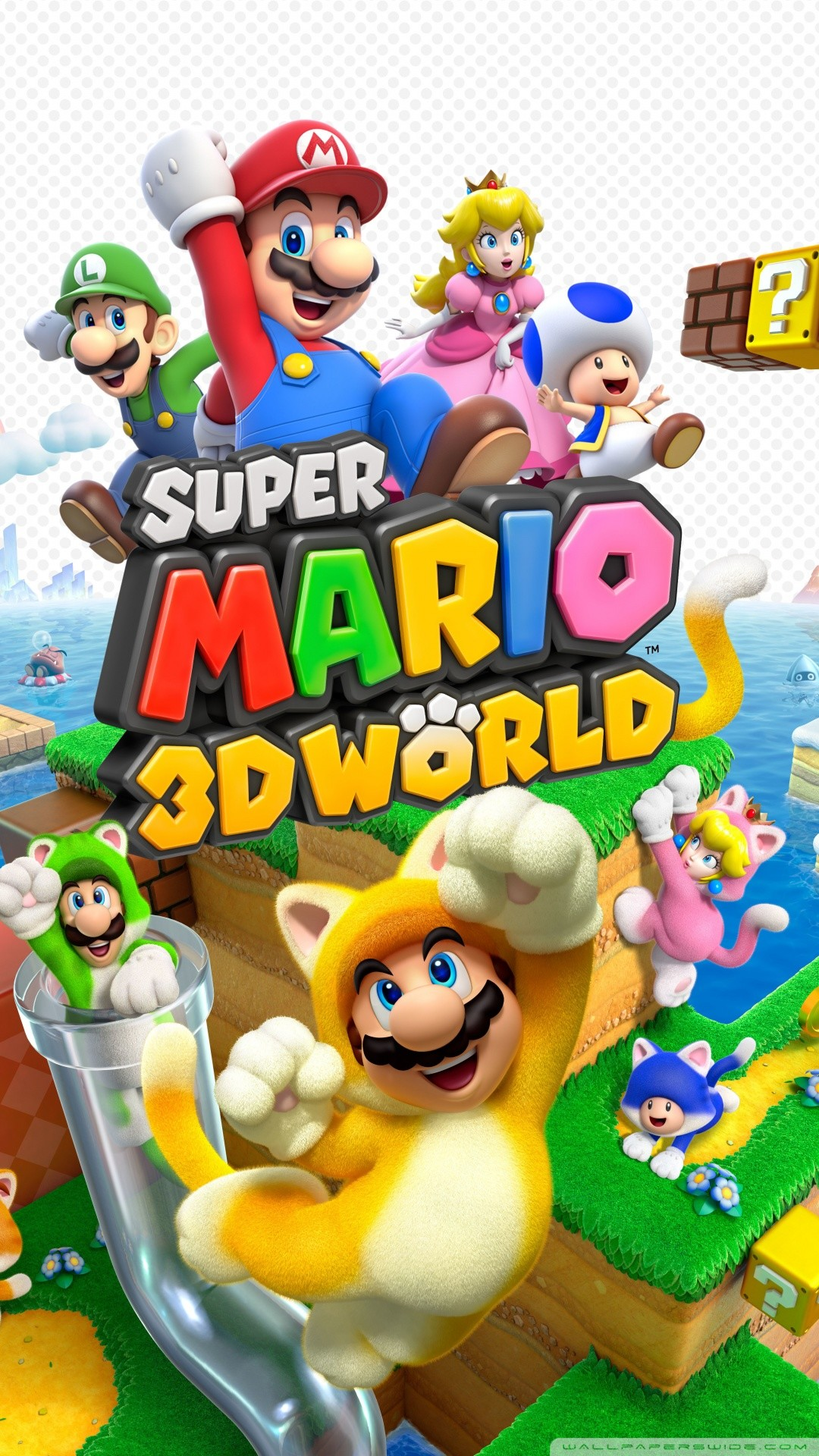 Free Super Mario 3D World video game phone wallpaper by mustangseatrice
