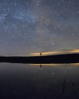 Starry sky, lake