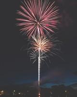 Fireworks at city