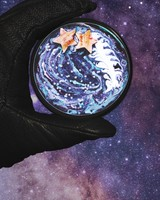 Hand, Space, Stars, Cup wallpaper 1