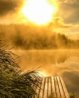 Golden Sunrise at Natural Lake