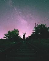 Railway, Starry sky