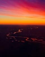 Sunset, Sky, Horizon