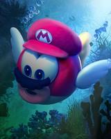 Super Mario Odyssey Underwater