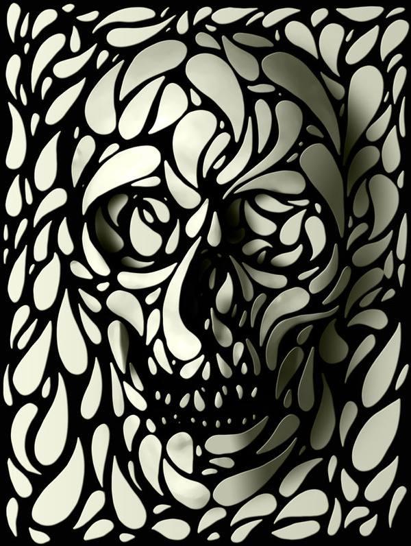 Free Petal Skull.jpg phone wallpaper by hijinx