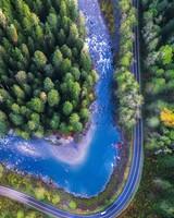 Mountain Loop Highway Drone View