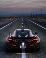 McLaren P1 Death Valley Race track