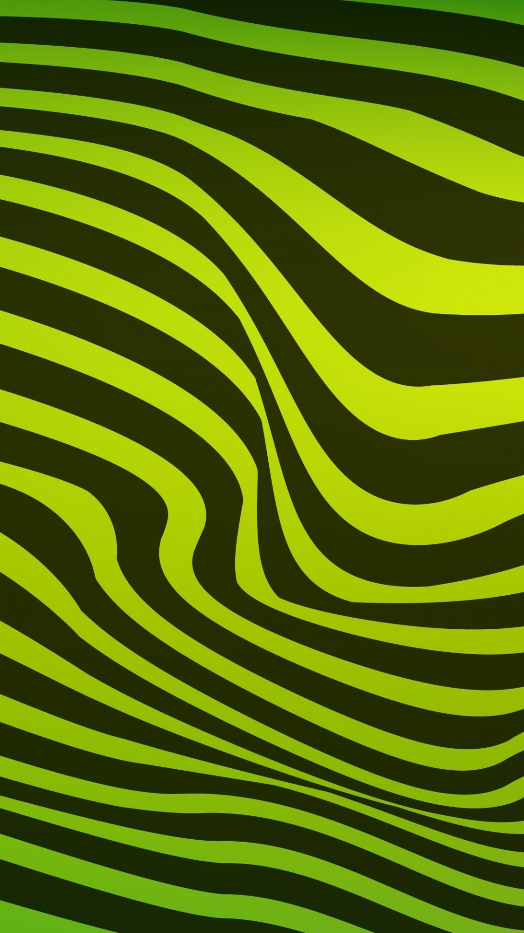 Free Black and green wavy lines phone wallpaper by racitm