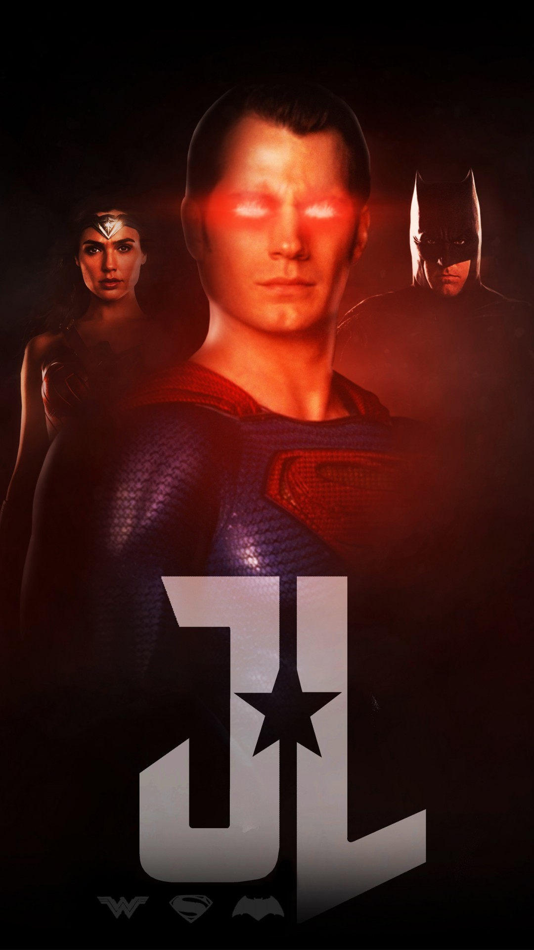 Free Justice League Wonder Woman Superman Batman phone wallpaper by lilb320