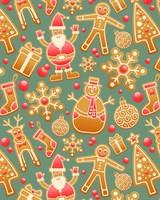 Christmas, Gingerbread, Snowman, Santa claus