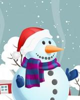 Snowman, Winter Illustration