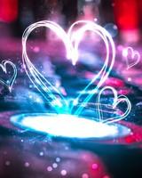 Neon Love Hearts
